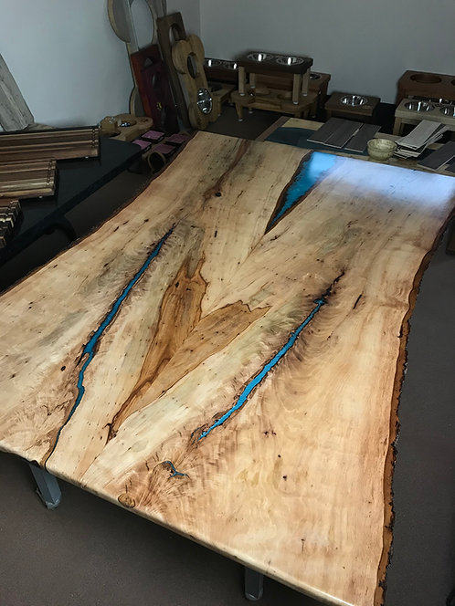 Pecan Table, Booked Matched Slabs - SOLD