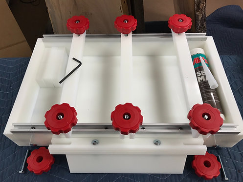 "10"" X 18"" Reusable Epoxy/Resin Mold/Form Upgraded with Levelers and Nobs"