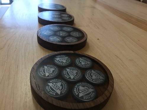 Full Coors Light Coasters