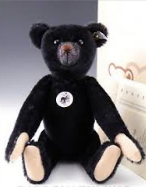 Steiff 1908 Black Teddy Bear Replica LE+