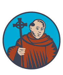 Priests Way logo and waymarker