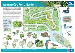 Coy Pond Gardens interpretation board