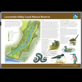 Luscombe Valley Local Nature Reserve interpretion Board