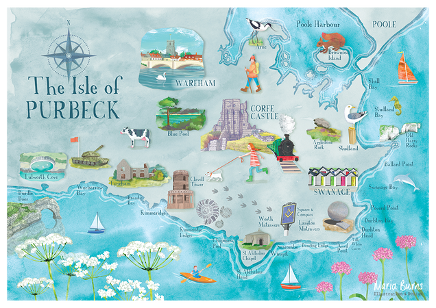 Illustrated Purbeck Map