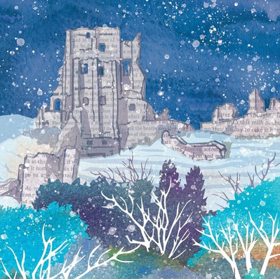 Corfe Castle in Winter