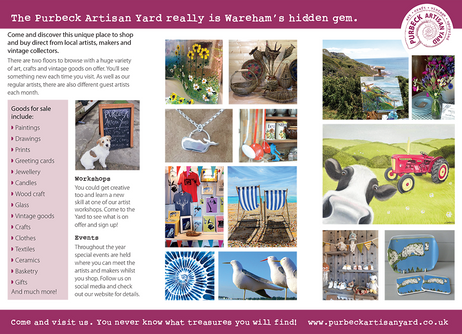 Purbeck Artisan Yard leaflet