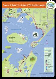 Poole Harbour Trails map illustration