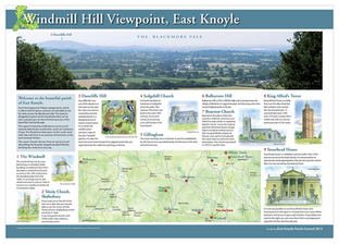 Windmill Hill, East Knoyle View Point board