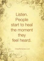 healing and heard