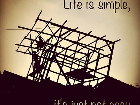 Simple does not mean easy