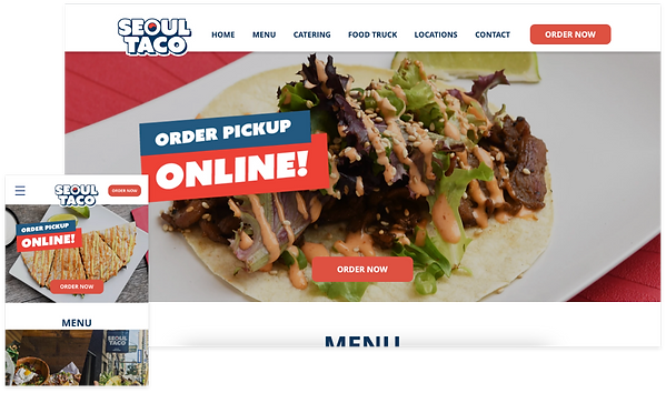 INFI website made for Seoul Taco