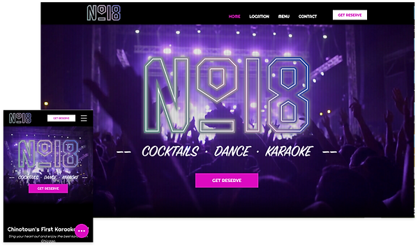 INFI website developed for No18 Karaoke Chicago