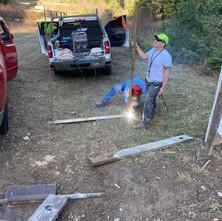 Installing 400 Yard Gongs