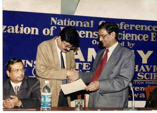 V C Mishra Getting Award