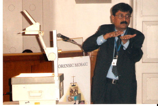 V C Mishra Explaining Forensic Trick