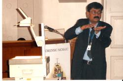 V C Mishra Explaining Forensic Trick