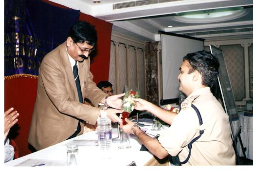 V C Mishra Receiving Award