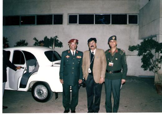 V C Mishra With Army Official