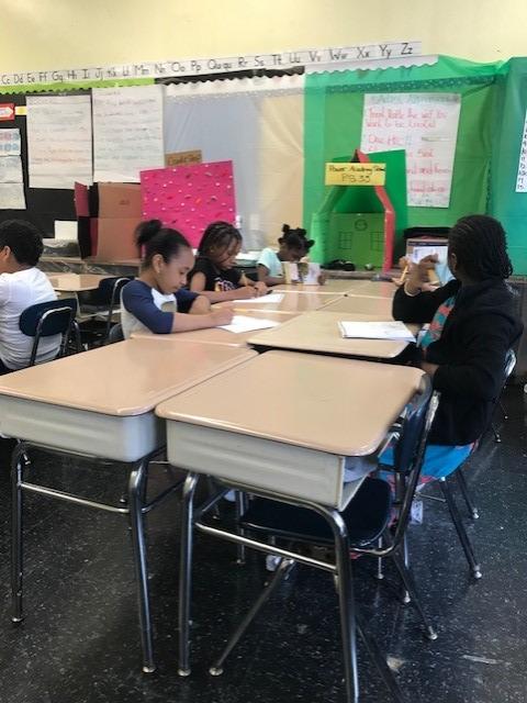 Journal writing at PS 33