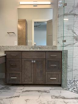 Maple Waterfall custom cabinets