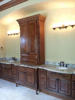 Master Bath Vanity custom cabinets