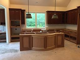 Mahogany custom cabinets