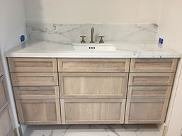 Whit Oak Stained Vanity custom cabinets