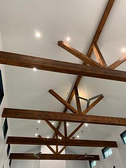 Cedar beams