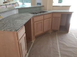 Unfinished Clear Alder custom cabinets
