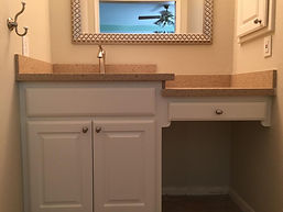 Vanity custom cabinets