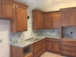 Alder custom cabinets