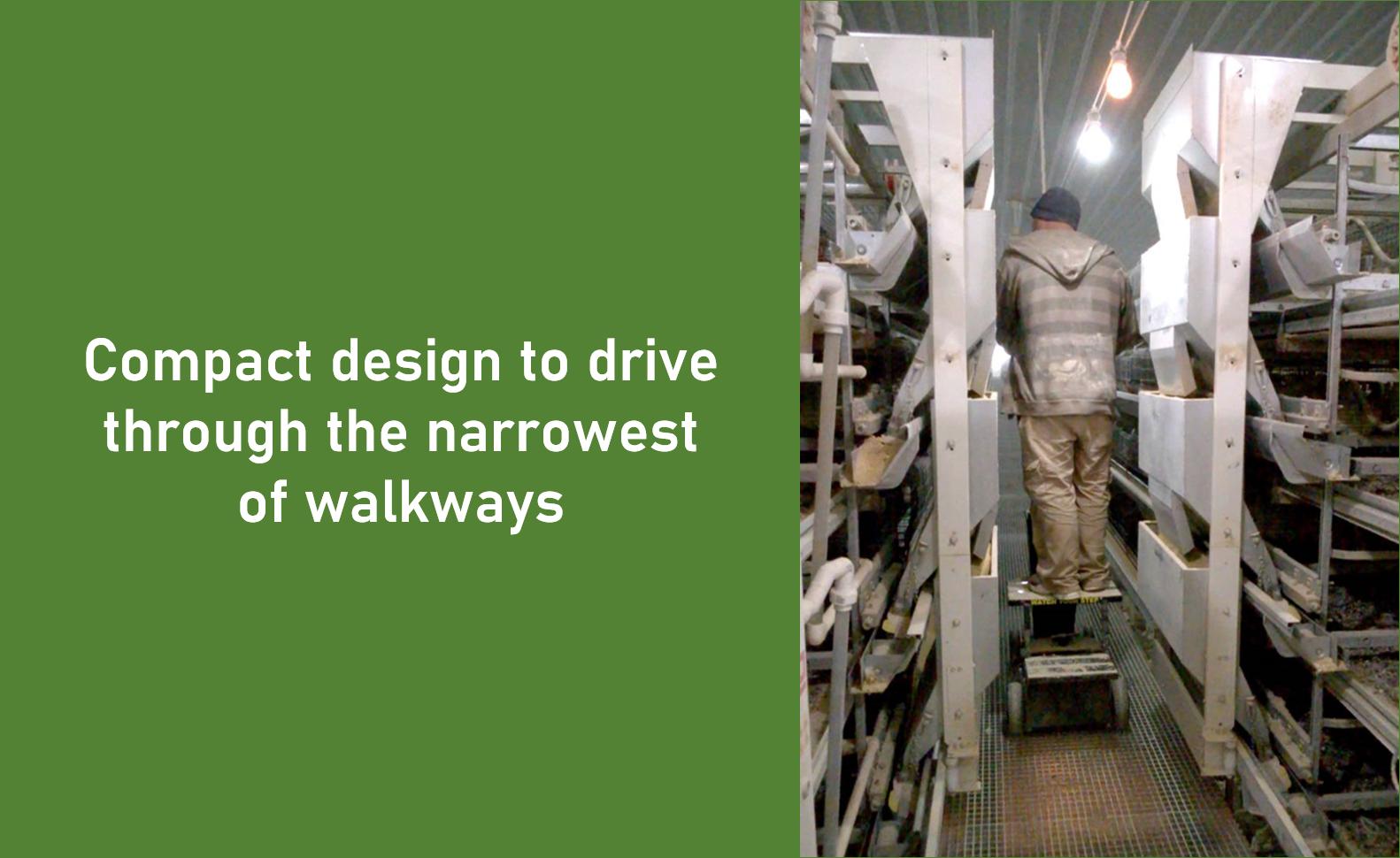 Slide - narrow aisle