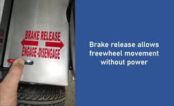 Slide - brake release