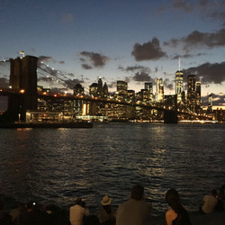 brooklyn bridge + skyline