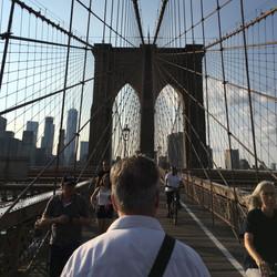 helmut on the brooklyn bridge