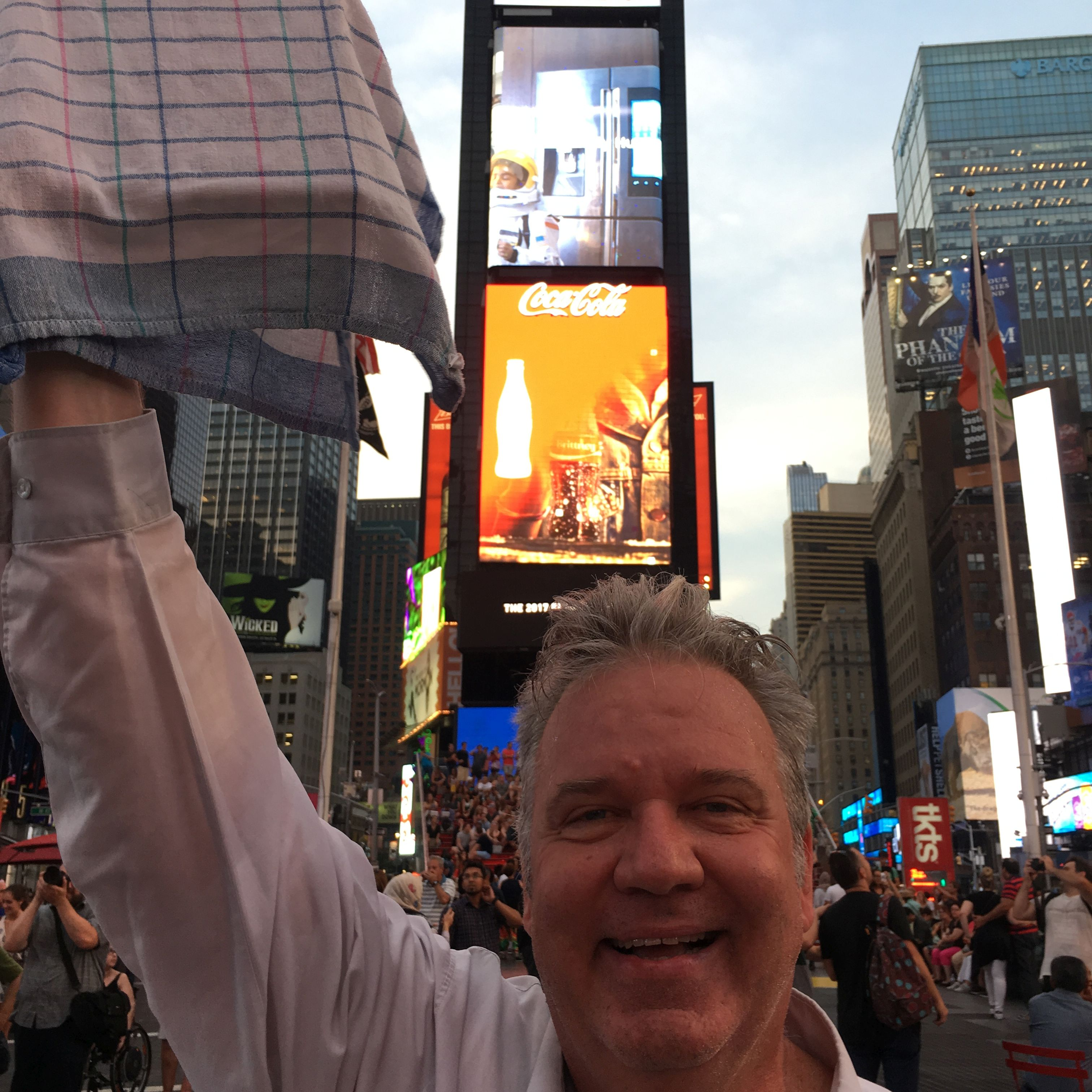 times square, offering painting