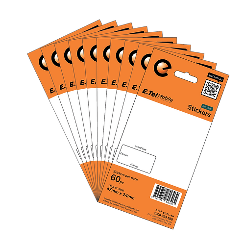 Label Stickers 60pcs x 10 packs