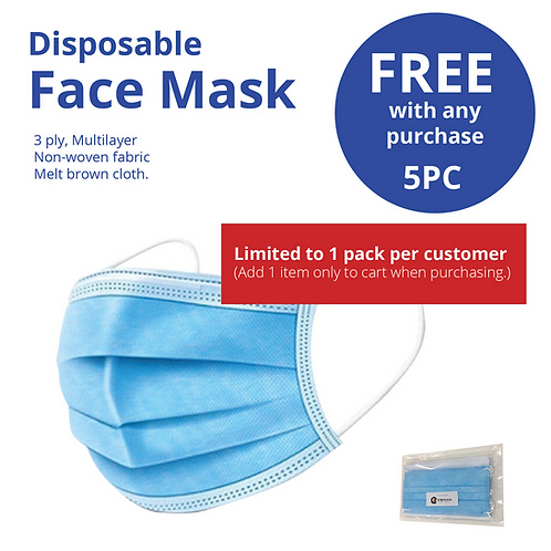 Complimentary Facemasks 5pk