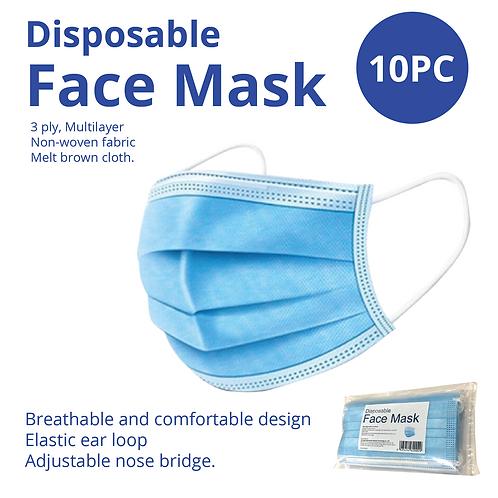 Face Masks 10pc pack