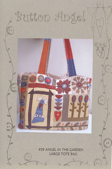 Large Angel in the Garden Tote