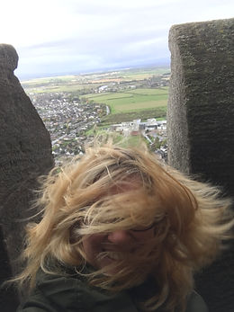 A very windy day atop The Wallace Monument, October 2017