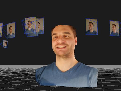 Ricostruisci un volto in 3D a partire da fotografie scattate da un cellulare.