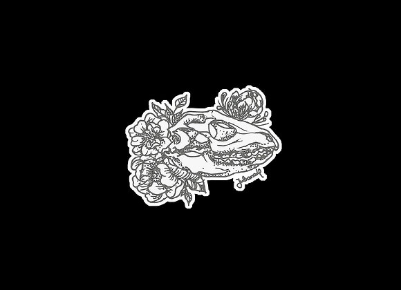 Adesivo ilustração crânio lagarto