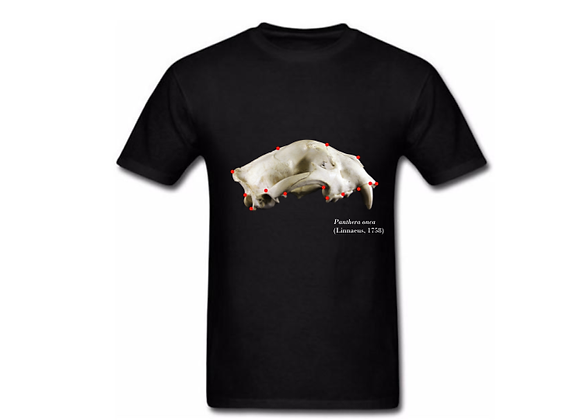 Camiseta crânio com landmarks