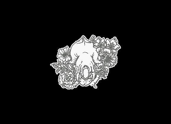 Adesivo ilustração crânio de morcego