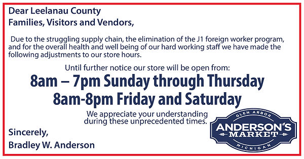 PSA Store Hours Update - FB Post - Ander