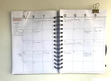 Planejamento mensal: setembro
