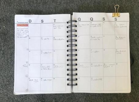 Planejamento mensal: Outubro