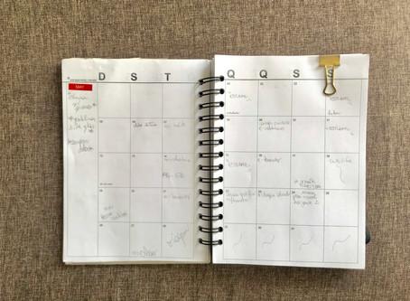 Planejamento mensal: maio