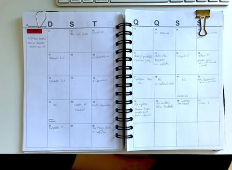 Planejamento mensal: abril